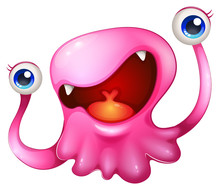 A Very Excited Pink Monster