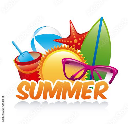 Fotobehang Draw summer design