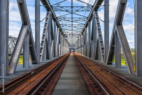 Foto op Aluminium Brug Historical railway bridge in Tczew, Poland