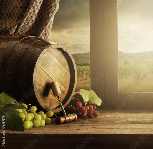 Papiers peints Vignoble Wine barrel