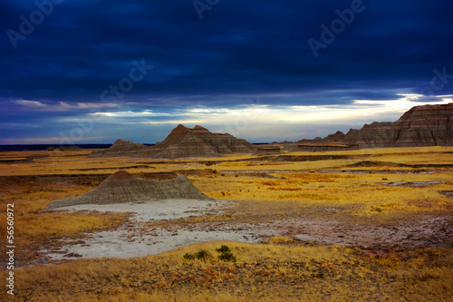Dramatic sky, Badlands national park, South Dakota, United State
