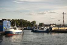 Fishing Boats Moored In The Ha...