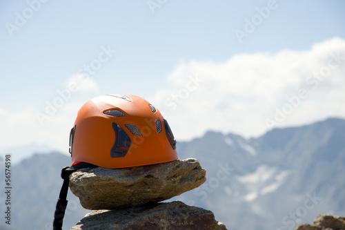 Foto op Plexiglas Alpinisme Kletterhelm