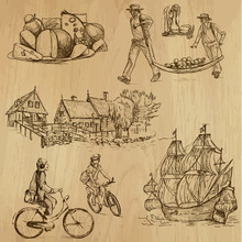 Traveling Holland - Drawings Into Vector Set 02