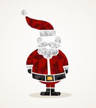 Merry Christmas Trendy Santa C...