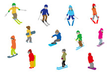 People Playing Winter Sports, ...