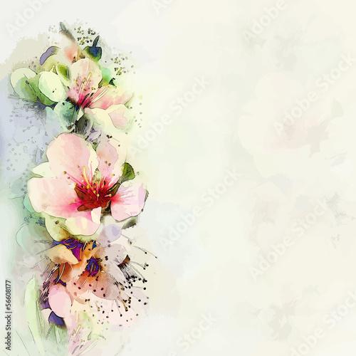 Powitanie karta kwiatowy z jasne wiosenne kwiaty