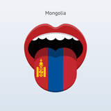Mongolia language. Abstract human tongue.