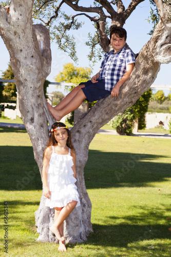 Fotografie, Obraz  Bambini belli al parco