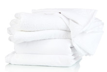 Bedding Sheets And Towels Isolated On White