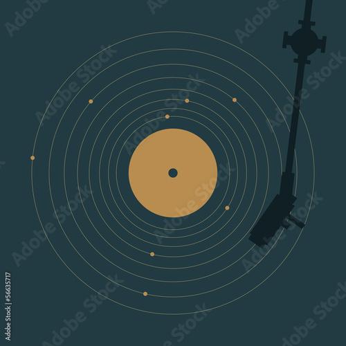 Cuadros en Lienzo Vinyl and solar system