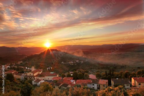 Foto op Plexiglas Landschappen Heart of Tuscany with Carmignano village in Italy
