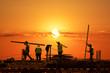 Leinwanddruck Bild - Sundown Laborers