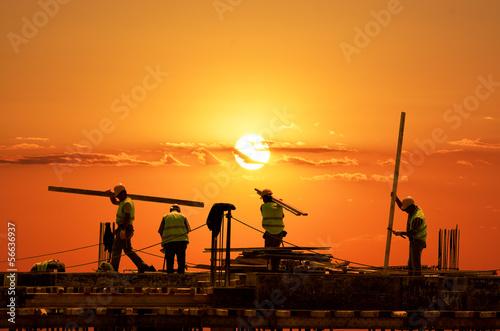 Canvas-taulu Sundown Laborers