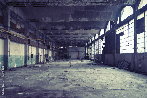 Wall Murals Old abandoned buildings abandoned shoe factory