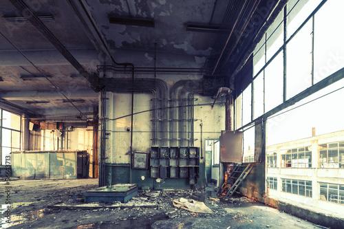 Foto op Canvas Oude verlaten gebouwen abandoned shoe factory