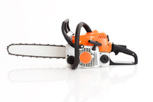 Chainsaw Isolated On White Bac...