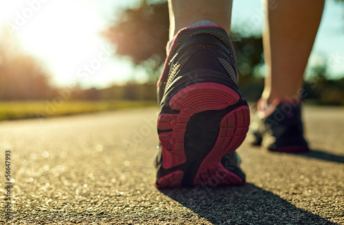 Woman running Canvas Print