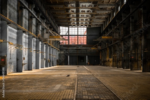 Acrylic Prints Old abandoned buildings Industrial interior of an old factory