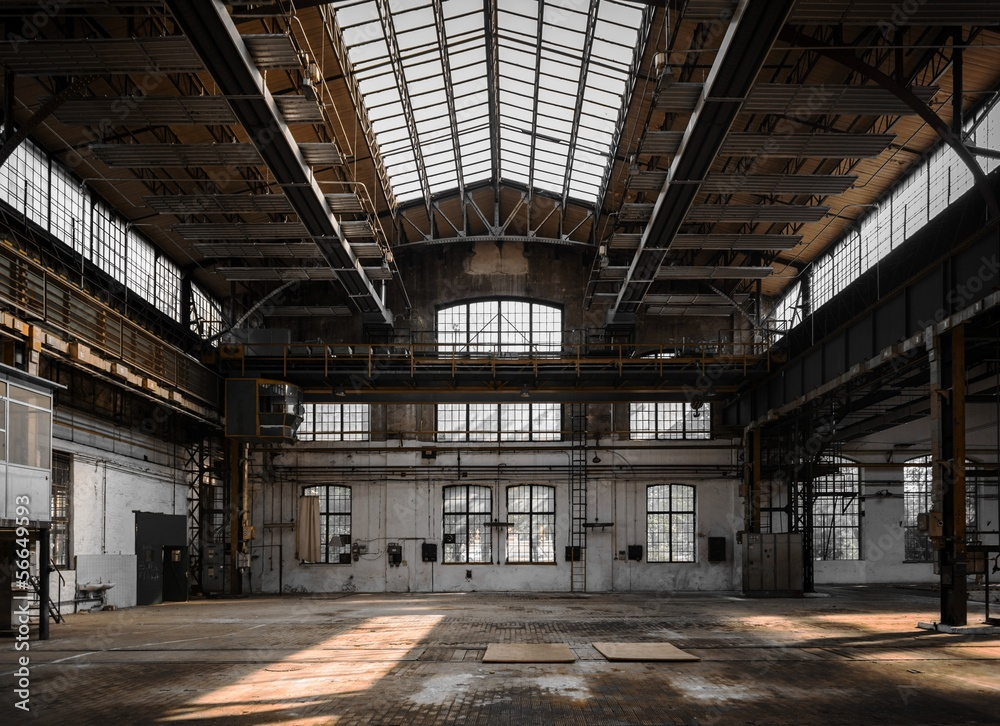 Fototapeta Industrial interior of an old factory