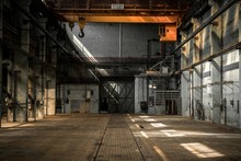 Industrial Interior Of An Old ...
