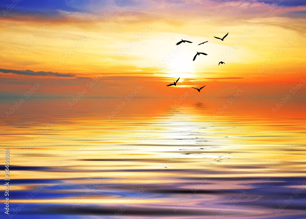Fototapeta volando hacia el sol