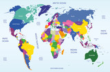 vector world geographical and political map - 56652972