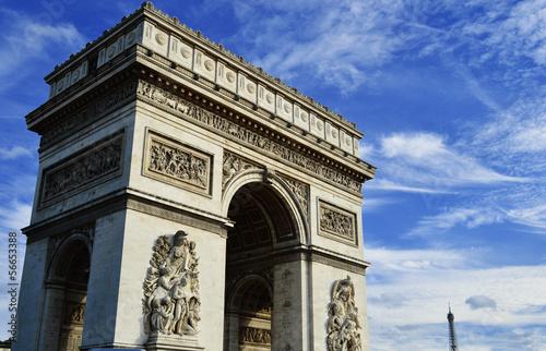 Fotomural Arc de Triomphe de l'Étoile, Triumphal Arch, Paris, France