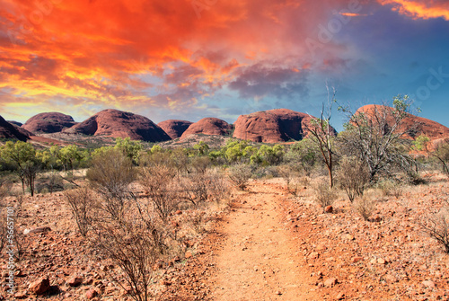 Canvas Prints Cappuccino Beautiful colors and landscape of Australian Outback