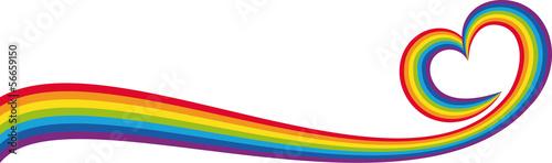 Cuadros en Lienzo Banner cuore arcobaleno