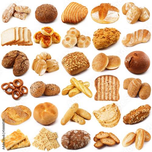 Carta da parati collazione di pane