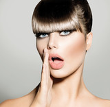 Fringe. Fashion Model Girl With Trendy Hairstyle. Vogue Style - 56667392
