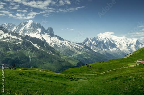 Recess Fitting Panorama Photos Massif du mont blanc