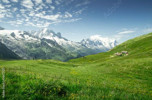 Deurstickers Alpen Massif du mont blanc
