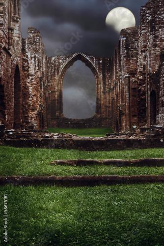 Fotobehang Volle maan Abbey Steps