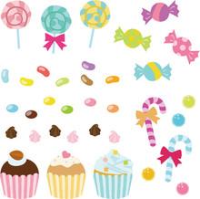 カラフルなキャンディやお菓子