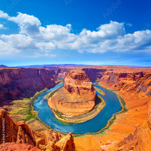 Valokuvatapetti Arizona Horseshoe Bend meander of Colorado River