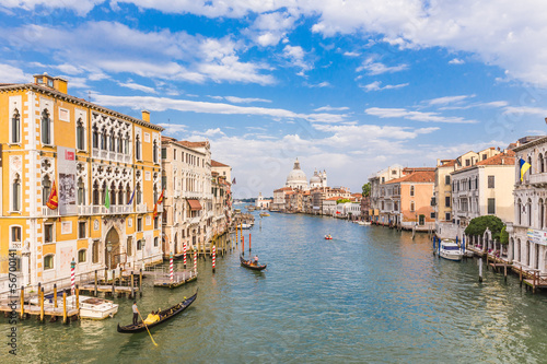 Cadres-photo bureau Venise Grand Canal on sunny day, Venice