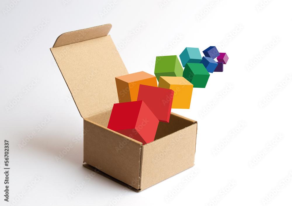 Fototapeta Cubi nella scatola