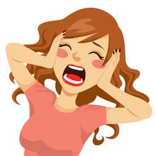 Desperate Screaming Woman