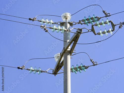 фотография  Current pole with insulators