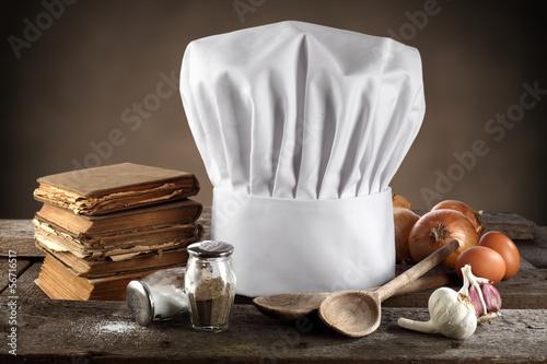 cook cap Canvas Print