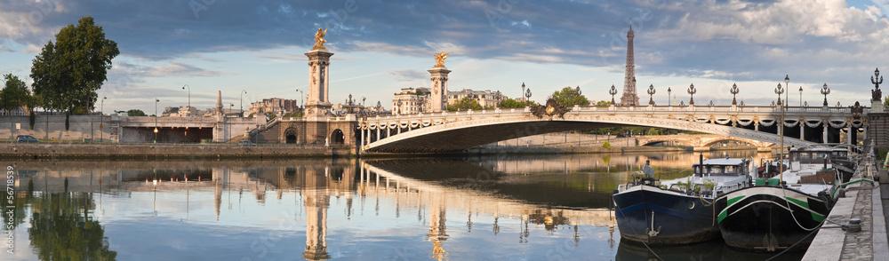 Fototapety, obrazy: Pont Alexandre III and Eiffel Tower, Paris