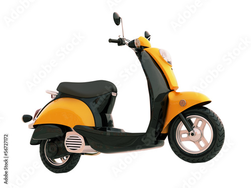 Classic scooter isolated Wallpaper Mural