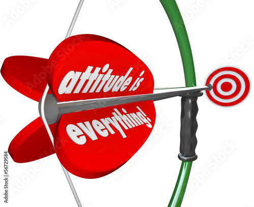 Attitude is Everything Bow Arrow  Positive Outlook Wins Game Fototapet
