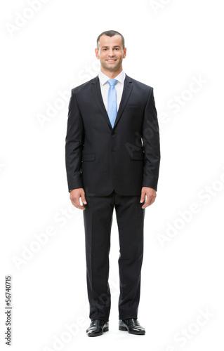 Fotografie, Obraz  Full-length portrait of businessman, isolated