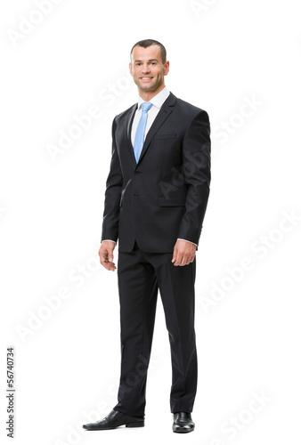 Fotografie, Obraz  Full-length portrait of business man, isolated on white
