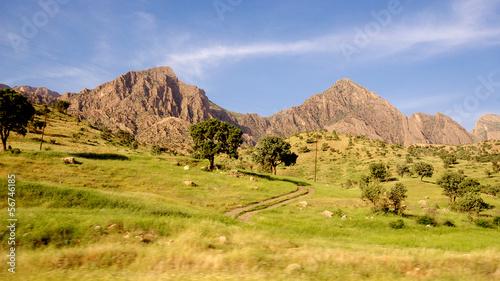 Fotografie, Obraz  Iraqi mountains in autonomous Kurdistan region near Iran