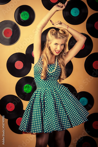 Fototapeta na wymiar vinyl records