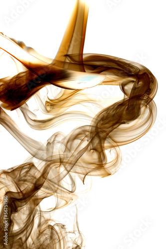 Keuken foto achterwand Fractal waves Brown smoke